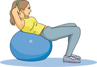 Fitness Using an Exercise Ball